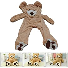 "78""(6.5 Feet) Giant Teddy Bear Cover Light Brown ( Semi-Finished, No Filler Cotton, Only Outer Shell with Zipper ) 200cm"