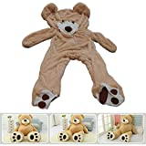 "78""(6.5 Feet) Giant Teddy Bear Cover Light Brown"