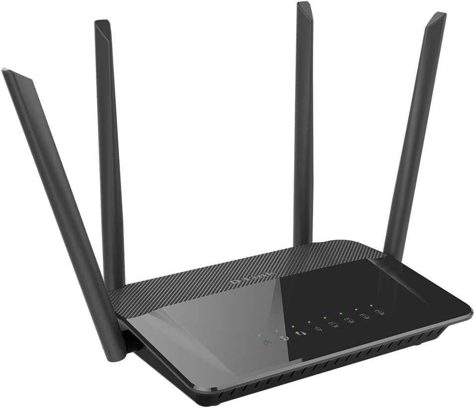 D-Link DIR-842 - Router WiFi AC 1200 Mbps (802.11ac, 4 Puertos Gigabit Ethernet RJ-45 10/100/1000 Mbps, 1 Puerto WAN Gigabit, WPS, WPA2, QoS, 4 Antenas externas) Negro