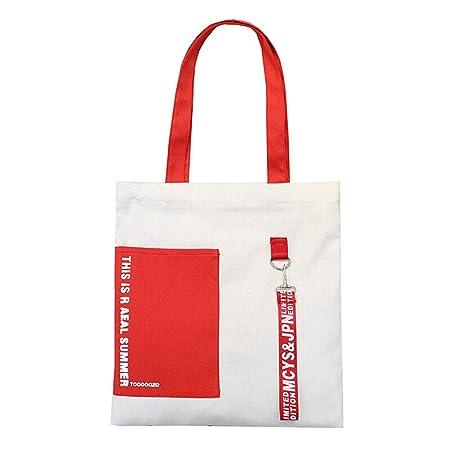 Amazon.com: Zhijie-bags Hit Color - Bolsa de lona para ...