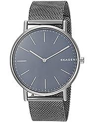 Skagen Mens Signatur Quartz Titanium Casual Watch, Color:Grey (Model: SKW6420)