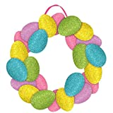 """Amscan Egg-Stra Special Easter Egg Wreath Sign Party Decoration (1 Piece), Multicolor, 14 1/2"""""""