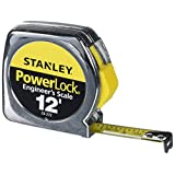 Stanley 33-272 12-by-1/2-Inch Heavy-Duty Powerlock Engineer's Scale Tape Rule with Metal Case