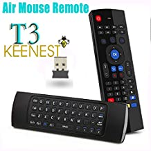 Keenest New T3 44 Keys for IR Learning 2.4G Mini Wireless Keyboard Fly Air Mouse Multifunctional W Infrared Remote Control Learning & [3-Gyro + 3-Gsensor] Air Control for Google Android Smart TV Box G Box IPTV HTPC Mini PC Windows iOS MAC Linux PS3 Xbox 360 & Xbmc Android Mini Pc Tv Box(Fly Mouse Mini keyboard for M8 M8S S82 Mx Mxq T8 T8S & T8 Pro Tv box)