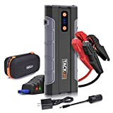 TACKLIFE T8 MAX Jump Starter - 1000A Peak 20000mAh, 12V Car Jumper (all gas, up to 6.0L diesel engine), Auto Battery Booster, Portable Power Pack with Smart Jumper Cables, Storage Case
