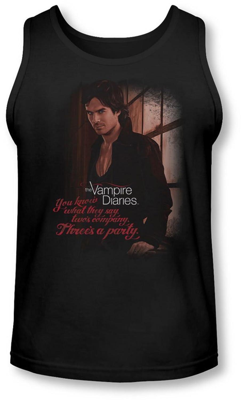 Vampire Diaries - Mens Threes A Party Tank-Top