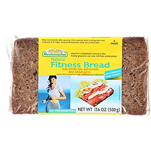 Fitness Bread - Mestemacher Natural FITNESS BREAD With Whole Rye, Oat Kernels, Wheat Germ (1-LOAF) (NET WT 17.6 OZ)
