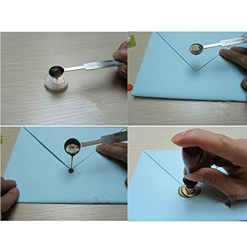 Smilucky 1 Pcs Wax Stamp Stainless Steel Sealing Spoo