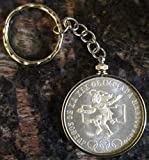 1968 Mexico Silver 25 Pesos Olympics*Brilliant Uncirculated* Coin Key Chain
