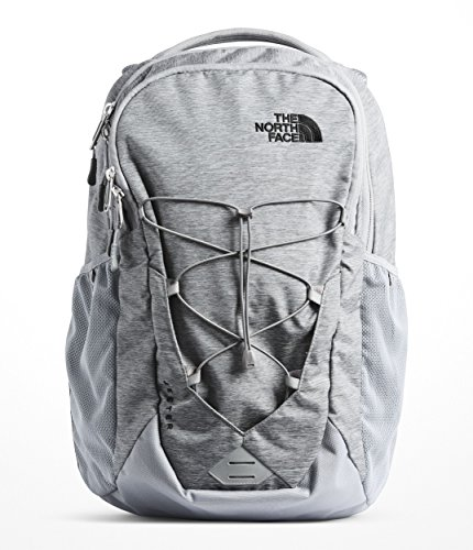 The North Face Unisex Jester Backpack Mid Grey Dark Heather/Tnf Black One Size (The North Face Borealis Backpack Zinc Grey Heather)