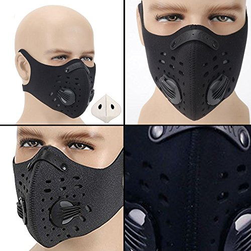 Mask With Filter Dust Masks And Filter Great Mask Outdoor for Running Cycling Sports Training Mowing Outdoor Also Allergy Mask Comes With Free Activated Carbon N99 Filter Carbon Filter