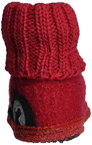 Haflinger Hüttenschuh Tatü - Zapatillas de casa Niños Rot (Ziegelrot)