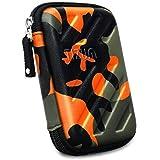 TIZUM External Hard Drive Case for 2.5-inch Hard Drive, GPS -Premium Edition (Camouflage Orange)
