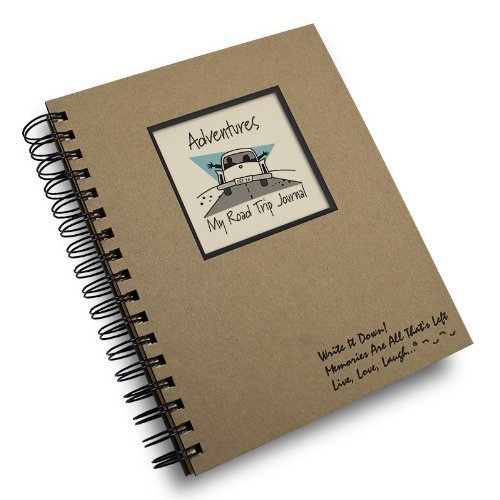 Adventure, My Road Trip Journal! - Kraft Hard Cover (Prompts on Every Page, Recycled Paper)