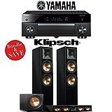 Yamaha AVENTAGE RX-A1070BL 7.2-Ch 4K Network AV Receiver + Klipsch RP-280F + Klipsch RP-440C + Klipsch R-112SW - 3.1-Ch Home Theater Package (Piano Black)