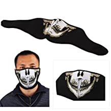Polartec Biker Motorcycle Snowboard Skull Goth Half Face Mask Facemask