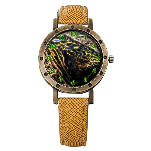 - GIRLSIGHT Brand Retro Bronze Vintage Leather Strap Watches Ladies Girl Quartz Watch Abstract Flowers 014.Aerial View of Hyde Park