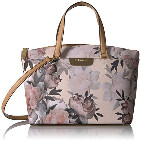 inted Saffiano Top Zip Satchel, Floral ()