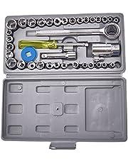 AIWA 40-piece socket wrench set - AIWA-34, 24 * 13 * 3.5cm / 9.4 * 5.1 * 1.3in