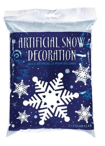 Party Snow (Amscan Winter Wonderland Christmas Party Snow Flurries Artificial Snow Decoration, Blue/White, 2.5 oz)