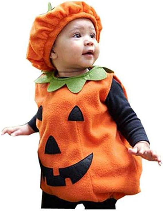 Disfraz Halloween Bebe Niña Calabaza, Conjuntos Bebe Sombrero ...