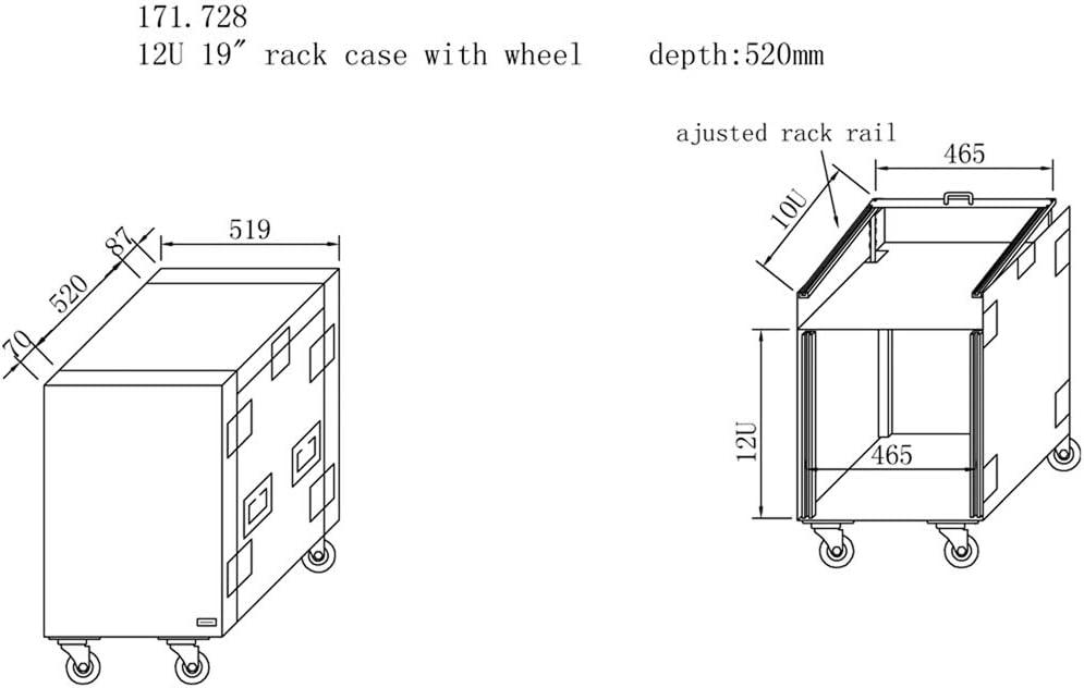 Power Dynamics Rack Case Combo 16 x 19 Unit Mixer Mount Mobile DJ Studio Equipment on Wheels
