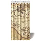 CTIGERS The Elder Scrolls Shower Curtain Province Skyrim Map of the Game Polyester Fabric Bathroom Decoration 36 x 72 Inch