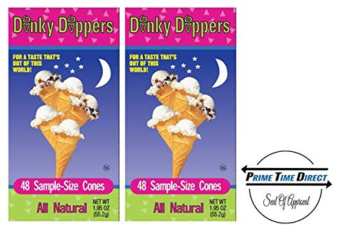 Dinky Dippers Miniature Ice Cream Cones Mini Child-Size 48ct, 1.95 Ounce (Pack of 2) ()