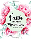 Bible Verse Planner 2020 Faith Can Move