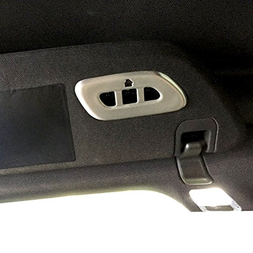 Eckler's Premier Quality Products 25359641 Corvette Garage Door Visor Button Cover Brushed