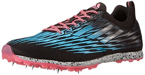 adidas Performance Women's XCS 5 W Cross Country Running Shoe, Core Black/Solar Blue2 S14/Neon Pink, 10 M US