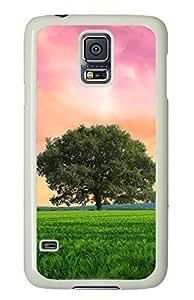 Green Grassland White Hard Case Cover Skin For Samsung Galaxy S5 I9600