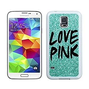 Custom Samsung Galaxy S5 Case Protective <Neo Hybrid> <Satin Silver> Slim Fit Dual Protection Cover for Galaxy S5 and Galaxy S5 Prime(2015)-Satin Silver,,Green Glitter Love Pink Samsung Galaxy S5 Case White Cover