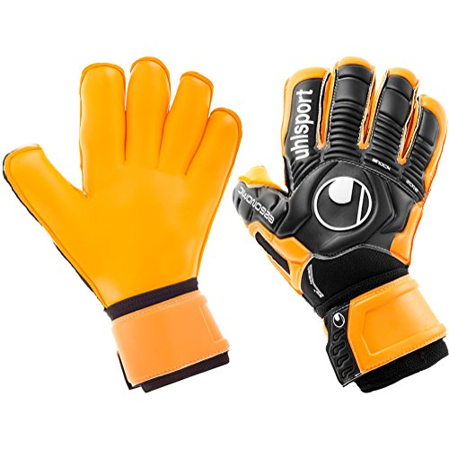 - uhlsport Mens Ergonomic Supersoft ROLL Finger Goalkeeper Gloves for Soccer