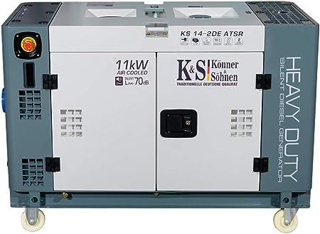 K/önner/&S/öhnen Diesel Generator 11KW KS 14-2DE ATSR 230V Stromerzeuger Profi