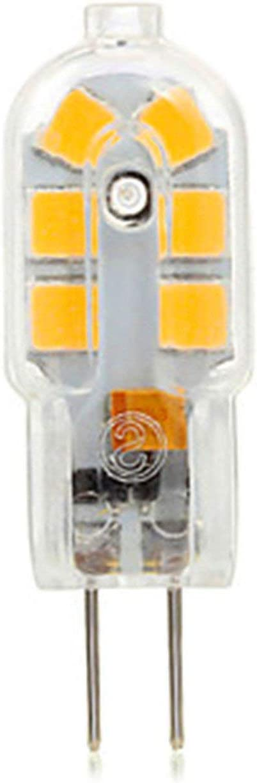 Capacity : 220V, Color : Warm White MUMUWU 10PCS 3W G4 12LED 2835SMD 200-300 Lm Warm White Decorative LED Bi-pin Lights DC 12 V AC 220 Bulb Lights