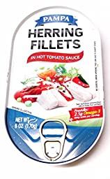 Pampa Herring Fillets in Hot Tomato Sauce (4 Pack) 6 oz Cans