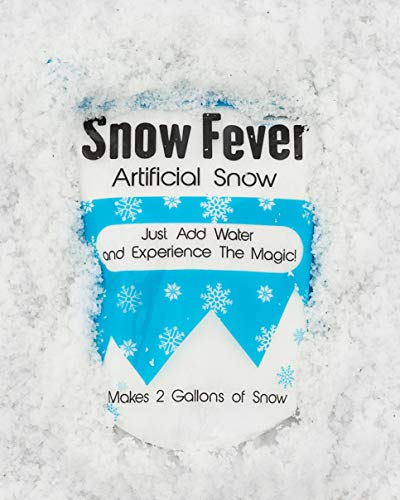 Best Instant Snow Powder - Artificial Fake Snow for Slime, Kids & Crafts – Premium Snow Decorations for Party, Photography, Christmas & Home Decor - Makes Gallons of Fluffy White Snow (2 Gallons)