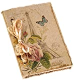 October Hill Fabric Boudoir Scrapbook Journal, Eiffel Tower Paris Butterfly (MBF12608)