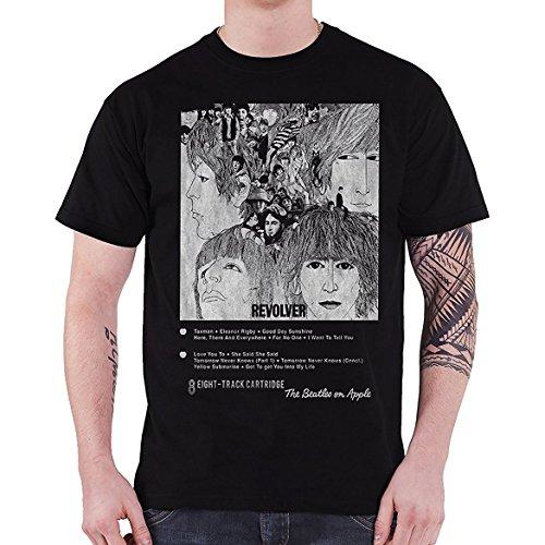 0972a24075ad XL Black The Beatles Revolver 8 Track Men's T-shirt.