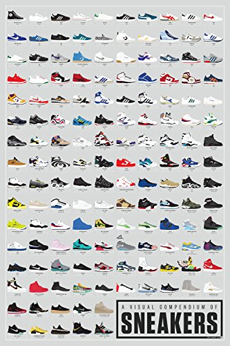 "Pop Chart Lab ""A Visual Compendium of Sneakers Poster Print"