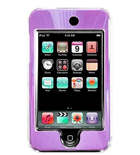 Aluminum Ipod Touch Case - Purple For Apple iPod Touch 2nd and 3rd Gen Hard Case with Aluminum Plating