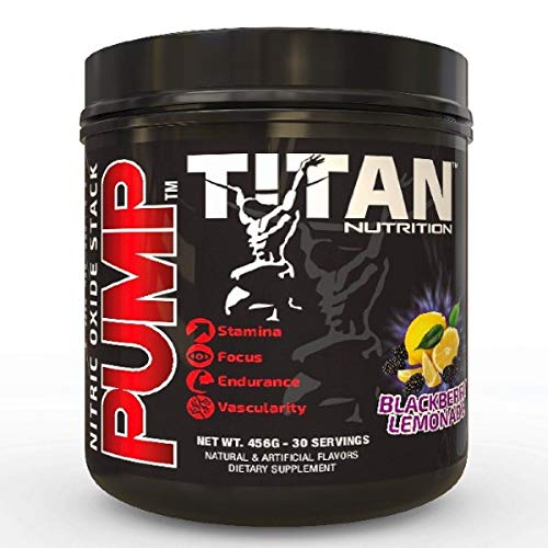 Pump- Stimulant Free Nitric Oxide Boosting Stack, with Citruline Malate for Maximum Pump, Vascularity and Improved Circulation with Brain Complex for Increased Focus (BlackBerry Lemonade)