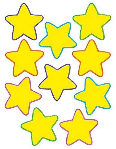 (Teacher Created Resources Yellow Stars Accents (4591))