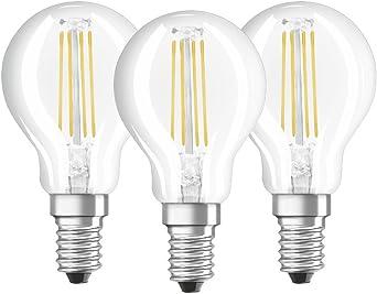 Osram 819337 Bombilla LED E14, 4 W, Blanco, Pack of 3 unidades ...