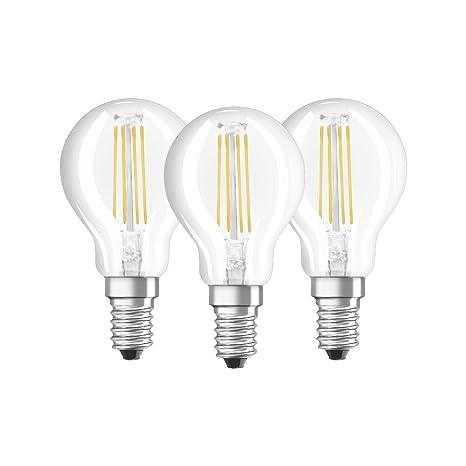 Osram 819337 Bombilla LED E14, 4 W, Blanco, 4 Unidades