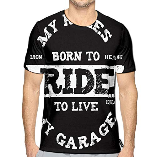 3D Printed T-Shirts My Rules Born to Ride to Live Short Sleeve Tops Tees (Best Foods To Fight Wrinkles)
