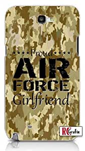 Proud Air Force Girlfriend Digital Camo Tan Military Camouflage Samsung Galaxy S5, S 5 Quality PVC Hard Plastic Snap On Case for Samsung Galaxy S5, S 5 - AT&T Sprint Verizon - White Case