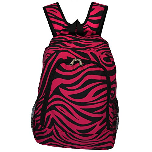 - World Traveler Multipurpose Backpack 16-Inch, Fuchsia Black Zebra, One Size
