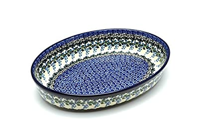 Polish Pottery Baker - Oval - Large - Wisteria